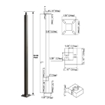 "20 FT. STEEL 4"" SQUARE LIGHT POLE"