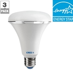 65W Equivalent Soft White (2700K) BR30 Dimmable LED Light Bulb (3-Pack)