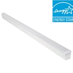 4 ft. Bright/Cool White LED Direct Wire Powered Strip Ceiling Light Fixture