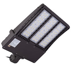 300W LED SHOEBOX LIGHT WITH SLIP FITTER AC120-277V